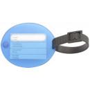 Großhandel Taschen & Reiseartikel: Gepäck-Umbau  Kunststoff blau mit Adressetikett