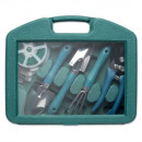 5-piece garden tools set in suitcase.