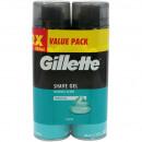 Gillette Shaving Gel 2x200ml sensitive skin