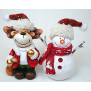 Snowman and Moose XL with big hat