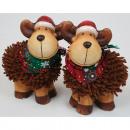 gerangschikt Moose  met bont en hoed van de Kerstma