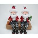 Kerstman met bont  bekleding randen als seater XL