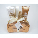 Gift set with sequined luxury bag