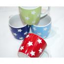 Coffee Mug with stars in four colors