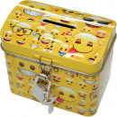 wholesale Gifts & Stationery: EMOJI metal money box with metal lock