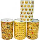 mayorista Regalos y papeleria: Emoji hucha de  metal de XL, 15x 10cm, 3 diseños