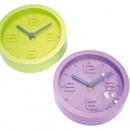 grossiste Horloges & Reveils: Horloge dans des  couleurs tendance, 15,5x4cm,