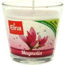 wholesale Drinking Glasses: Elina nature  Duftglas 110gr Magnolia 2farbig
