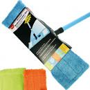 Vloer mop set met microfiber wisser