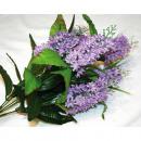 Großhandel Kunstblumen: Fliederstrauß XL  LUXUS mit 7 großen Blüten