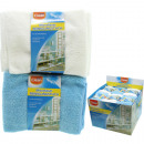 wholesale Houshold & Kitchen: Microfibre cloth  30x30cm Pack of 6 displayed