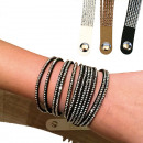 Bracelet fashion  jewelry with rhinestones