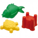 Sand molds XXL Set of 3 sorted,