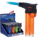 groothandel Aanstekers: Lichter Blue Flame Turbo in Display