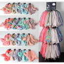 wholesale Scarves & Shawls: Scarf 240 parts  sorted in pastel colors