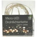 LED-Micro-Lichterkette 20er mit Draht, 2 Meter