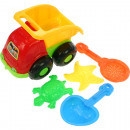 wholesale Toys: Sandspielset with  truck 16x14cm, 2 ramekins and