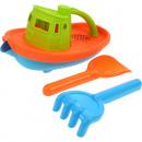 wholesale Toys: Sandset boat  23x14cm u.  Schaufel / ...