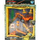 Playset construction workers XL 9tlg 4fach sort. i