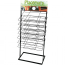 Metal display rack with shelves 7