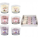 Scented candle in glass 3 fragrances assorted 12er