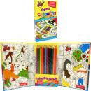 grossiste Bricoler et dessiner: Malbuchset f.  Kinder incl. SET 21x25cm Crayons de
