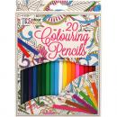 grossiste Stylos et crayons: 20 crayons de  couleur 18 cm  Paquet a souligné ...