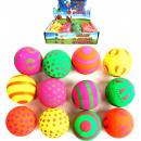 mayorista Juguetes: Bolas de goma  6.3cm 12 piezas en Expositor surtido