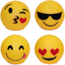 groothandel Overigen: LED Ball Plastic  Smiley Ontwerp 10cm 4f.sort
