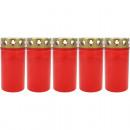 Großhandel Kerzen & Kerzenhalter: Grablicht Brenner Nr. 3 rot, 5er Pack