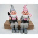 Garden Gnome edges  seater with metal godfathers