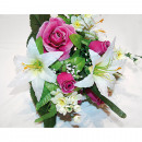 Großhandel Sonstige: Blumenstrauß Rosen & Lilien 42cm
