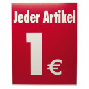 wholesale Displays & Advertising Signs: Ceiling hanger 1  EUR 2seitig corrugated 50x40cm