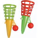 groothandel Speelgoed: Fang cup 3pc,  18x7,5cm 2 stuks + 1 bal