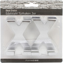Großhandel Kleinmöbel: Türhaken Edelstahl 2er X-Form
