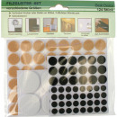 wholesale Haberdashery & Sewing: Felt pads around  the 124 range 3 colors