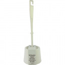 groothandel Badmeubilair & accessoires: Toiletborstel met houder 36 cm wit