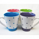 Coffee mug about  350ml with small dots