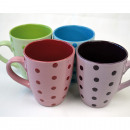 Coffee mug decorated with about 350ml points