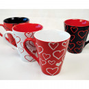 wholesale Cups & Mugs: Coffee mug  decorated with hearts about 350ml