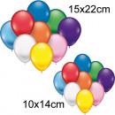 grossiste Cadeaux et papeterie: Ballons 10x14 25er  + diamètre de 15x22cm
