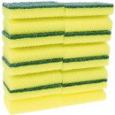 wholesale Cleaning: Sponge scourer with handle 8 Pack