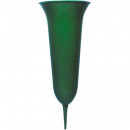 groothandel Bloemenpotten & vazen: Grabvase 31x12 cm Plastic, Kleur Groen