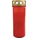Grave lampe torche rouge, couvercle d'or