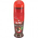 wholesale Shoe Accessories: Shoe polish 75ml  brown KIWI with Dosierschwamm