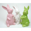 grossiste Figurines & Sclulptures: Hase XL 12x7x7cm, 3 pose assorti,