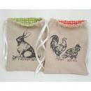 ingrosso Altre borse: borsa in tessuto  di lino con innenl. plaid