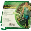 Garden apron with  tool bag 59x48cm green