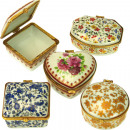 Sorted decorative porcelain box