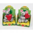 mayorista Otro: Ratón con el  corazón hecho de resina sintética, su